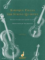 Baroque Pieces For String Quartet Set Of Parts Sheet Music