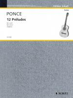 12 Preludes (Easy Etudes) Guitar Solo Sheet Music