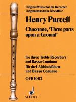 3 Parts Upon A Ground Chaconne Sheet Music