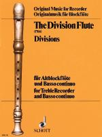 The Division Flute Divisions: For Alto Recorder And Basso Continuo Sheet Music