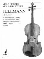 Duet In A Major From Der Getreue Musikmeister Performance Score Sheet Music