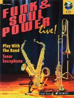 Funk & Soul Power Play Tenor Saxophone With The Band Sheet Music