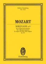 Serenade For 6 Wind Instruments In Eb Major, K.375 Study Score Sheet Music