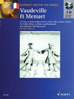 Vaudeville & Menuet 16 Easy To Intermediate Pieces From 18th Century France Violin (Flute Or Oboe) A Sheet Music