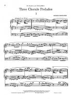 Three Chorale Preludes Sheet Music