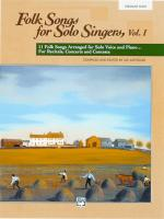 Folk Songs For Solo Singers, Vol. 1 - Book Sheet Music