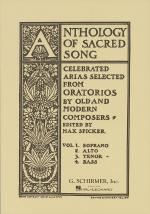 Anthology Of Sacred Song - Volume 3 Tenor Sheet Music