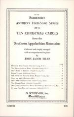 10 Christmas Carols From The Southern Appalachian Mountains Piano Solo Sheet Music
