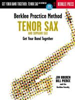 Berklee Practice Method: Tenor And Soprano Saxophone Get Your Band Together Sheet Music