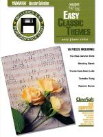 Easy Classic Themes Easy Piano Solos Sheet Music