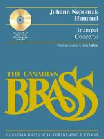 Trumpet Concerto Canadian Brass Solo Performing Edition With A CD Of Full Performance And Accompanim Sheet Music