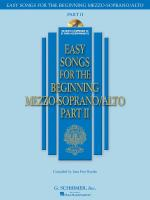 Easy Songs For The Beginning Mezzo-Soprano/Alto - Part II Sheet Music