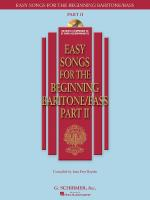 Easy Songs For The Beginning Baritone/Bass - Part II Sheet Music