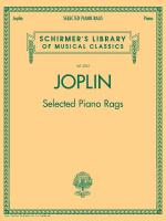 Selected Piano Rags Schirmer's Library Of Musical Classics, Volume 2062 Sheet Music