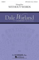 Without Words Dale Warland Choral Series Sheet Music Sheet Music