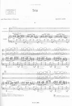 Trio Violin, Cello And Piano, Score Sheet Music