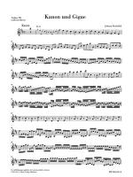 Canon And Gigue For Three Violins And Basso Continuo In D Major Additional Violin III Part Sheet Music