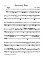 Canon And Gigue For Three Violins And Basso Continuo In D Major Additional Basso Part Sheet Music