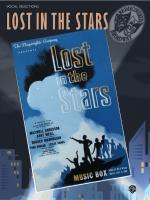 Lost in the Stars: Vocal Selections - Book Sheet Music