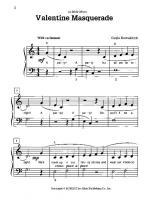 Valentine Masquerade - Sheet Music Sheet Music