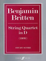 String Quartet in D - Study Score Sheet Music