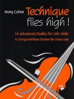 Technique Flies High! (14 Advanced Studies for Solo Violin) - Book Sheet Music