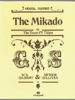 Mikado - Vocal Score Sheet Music