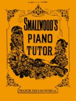 Smallwood's Piano Tutor - Book Sheet Music
