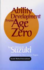 Ability Development from Age Zero - Book Sheet Music