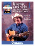Bluegrass Guitar Solos That Every Parking Lot Picker Should Know (Series 1) 6 CD Sheet Music