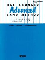 Hal Leonard Advanced Band Method Bb Clarinet Sheet Music