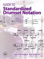 Guide To Standardized Drumset Notation Sheet Music