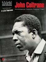 John Coltrane - A Love Supreme Tenor Saxophone Sheet Music