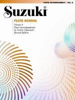Suzuki Flute School Piano Acc., Volume 8 - Book Sheet Music