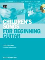 Children's Songs For Beginning Guitar Learn To Play 15 Favorite Songs For Kids Sheet Music