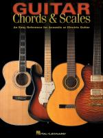 Guitar Chords & Scales An Easy Reference For Acoustic Or Electric Guitar Sheet Music