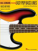 More Easy Pop Bass Lines Supplemental Songbook To Book 2 Of The Hal Leonard Bass Method Sheet Music