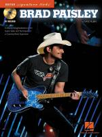 Brad Paisley A Step-By-Step Breakdown Of The Guitar Styles And Techniques Of A Country-Rock Supersta Sheet Music
