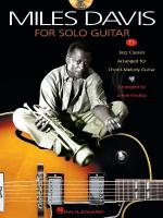 Miles Davis For Solo Guitar Sheet Music