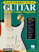 Teach Yourself To Play Guitar - Electric Guitar Songbook Sheet Music