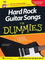 Hard Rock Guitar Songs For Dummies Sheet Music