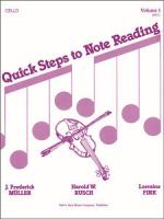 Quick Steps To Notereading, Vol 1 - Cello Sheet Music Sheet Music
