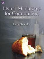 Hymn Miniatures For Communion Sixty-Second Meditations for Piano Sheet Music
