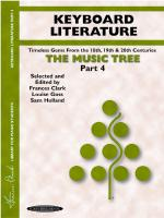 The Music Tree: Keyboard Literature, Part 4 (A Plan for Musical Growth at the Piano) - Book Sheet Music