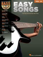Easy Songs Bass Play-Along Volume 34 Sheet Music