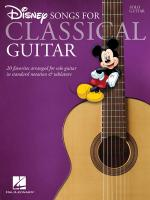 Disney Songs For Classical Guitar Standard Notation & Tab Sheet Music