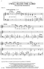 I Will Bless The Lord Sheet Music (Psalm 34) Sheet Music