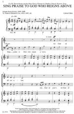 Sing Praise To God Who Reigns Above Sheet Music Sheet Music