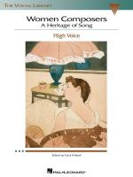 Women Composers - A Heritage Of Song The Vocal Library High Voice Sheet Music