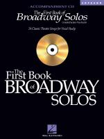 The First Book Of Broadway Solos Soprano Accompaniment CD Sheet Music